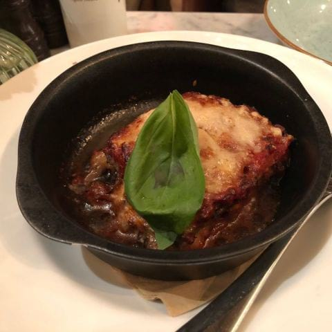 Aubergine Parmesan – Photo from Eataly by Agnes L.