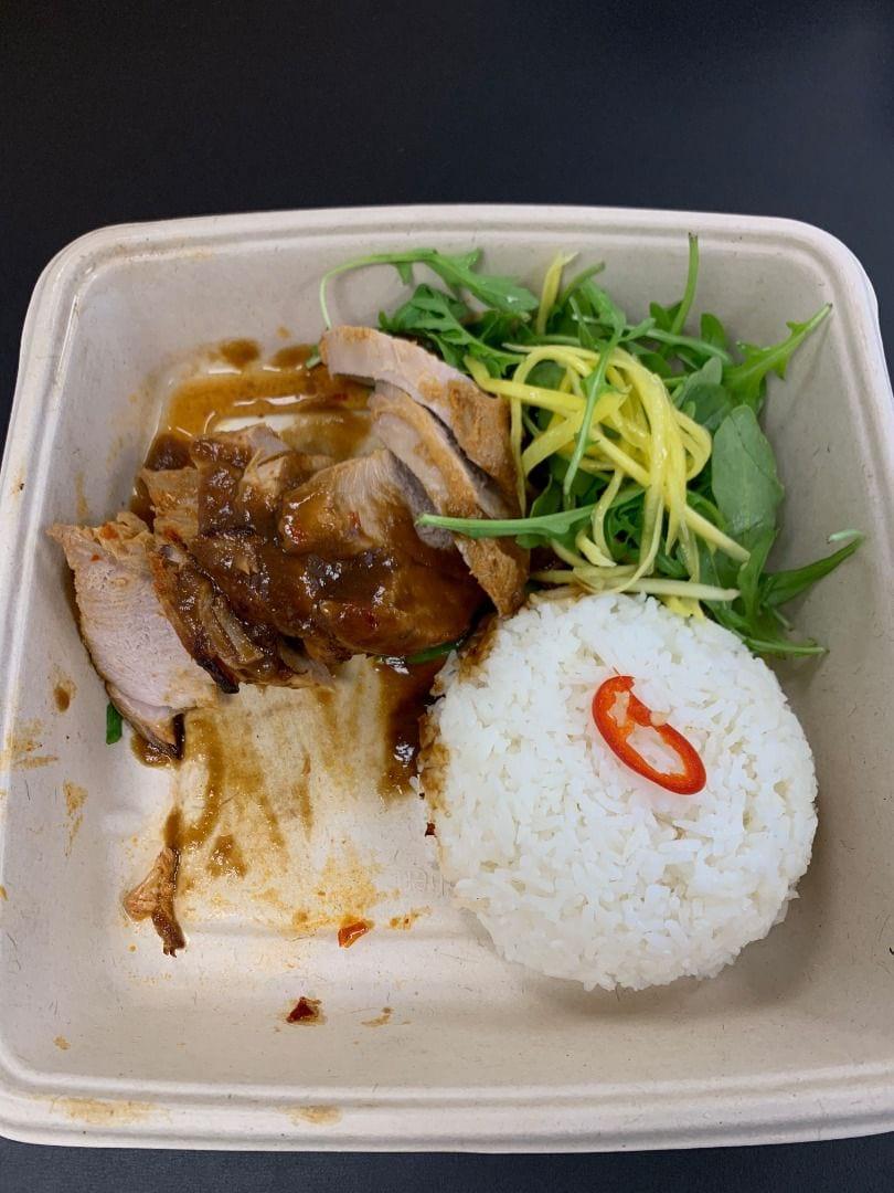 Grillad fläskfilé i citrongräs med ris och ruccolasallad – Photo from Eatnam Odengatan by Robin N.