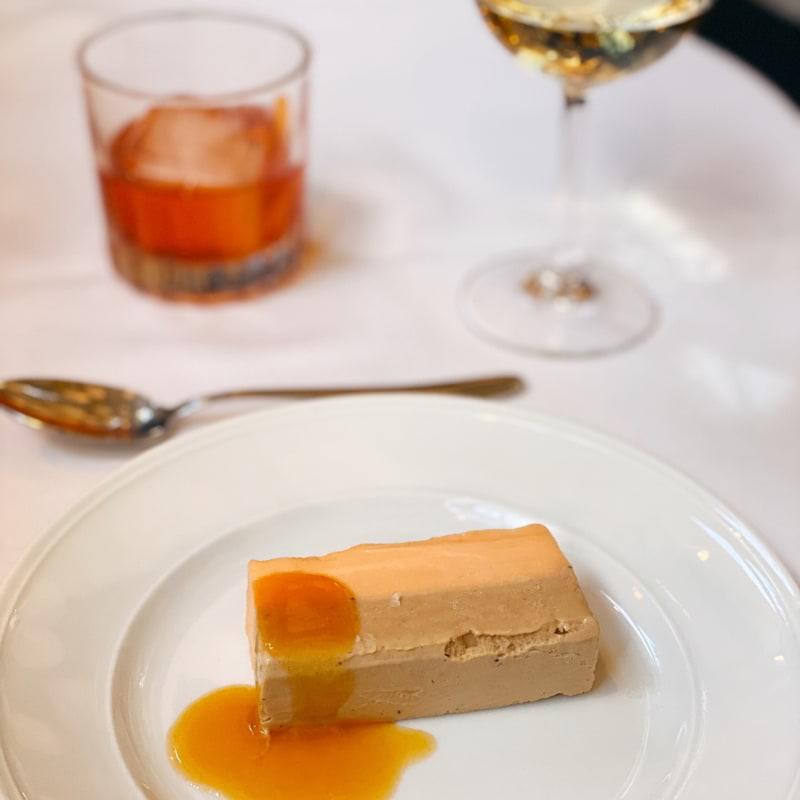 Dessert - mangosorbet och Earl gray-glass – Bild från Garba Surbrunnsgatan av Isabelle W.