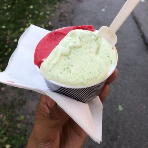 Hallon & basilika – Photo from Gelato Scarfó by Mythu L.