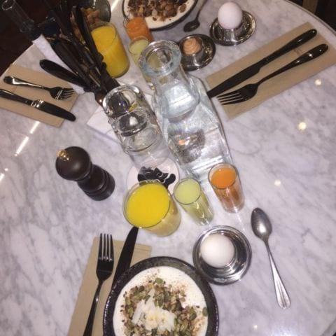 En del av den drömmiga frukosten – Bild från Hotel Frantz av Katrine L.