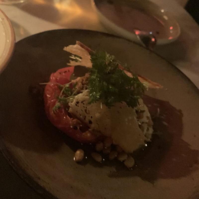Burrata med soltorkad tomat – Bild från Las Brasas av Hanna T.