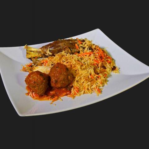 Qabuli med lammkött russin morötter och ris – Photo from Lilla Kabul by Shahzad A.