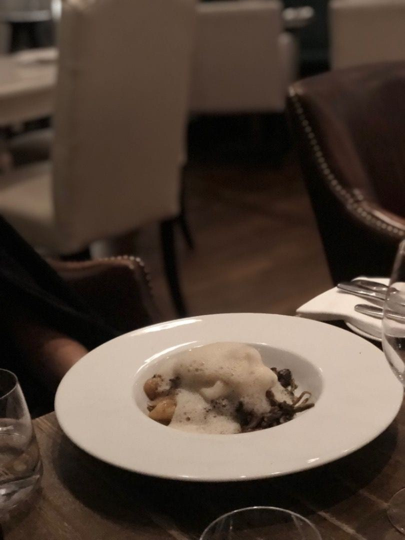 Piggvar och gnocci under skum. – Photo from Lydmar Hotel by Annelie V.