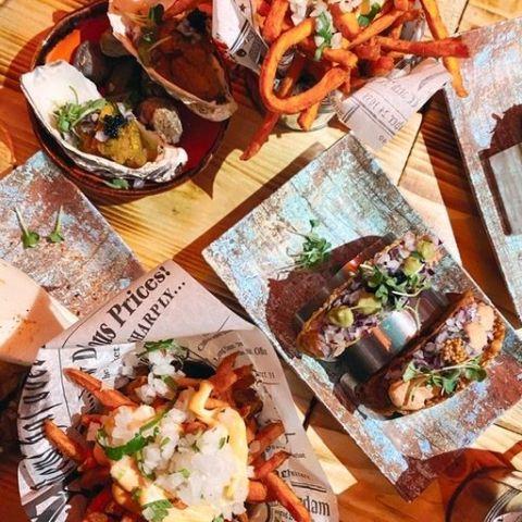 Ostron och fries mm – Bild från Maiz Mexican av Isabelle W.