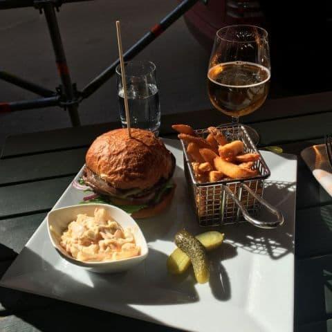 Vegetarisk hamburgare – Bild från Mississippi Inn av Fredrik J.