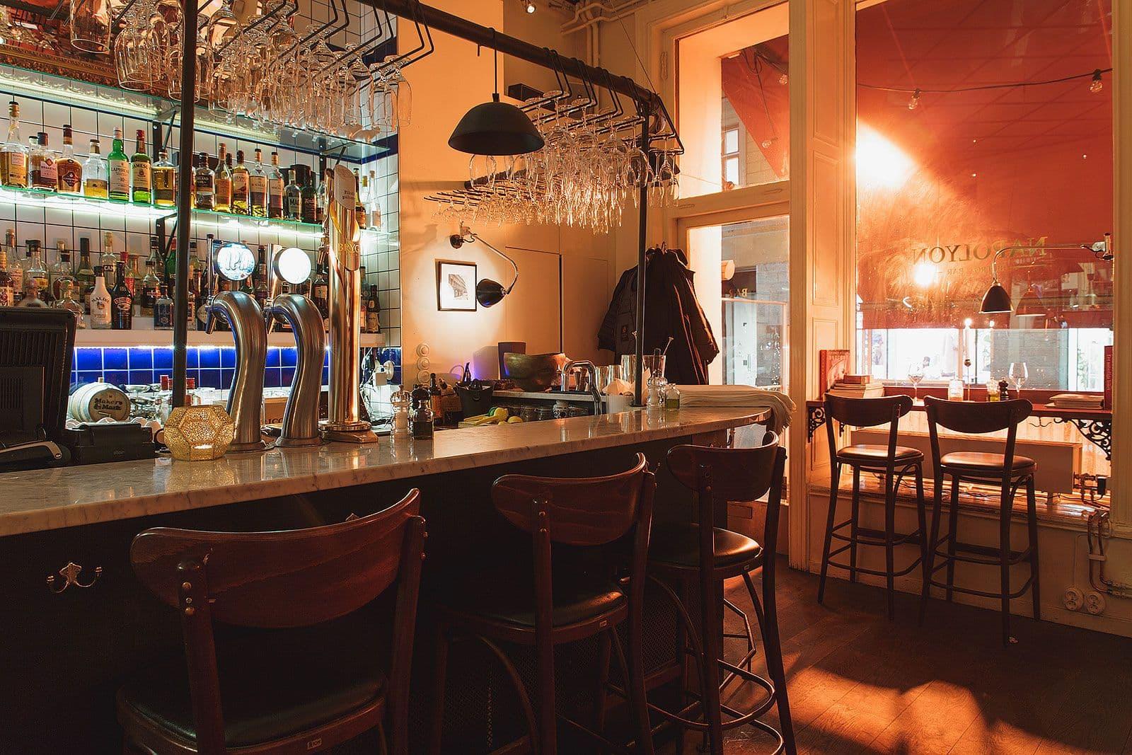 Lång ö krok upp barer
