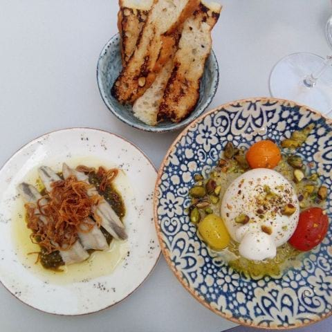 Boquerons. Burrata – Photo from NOFO Hotel & Wine Bar by Katarina D.