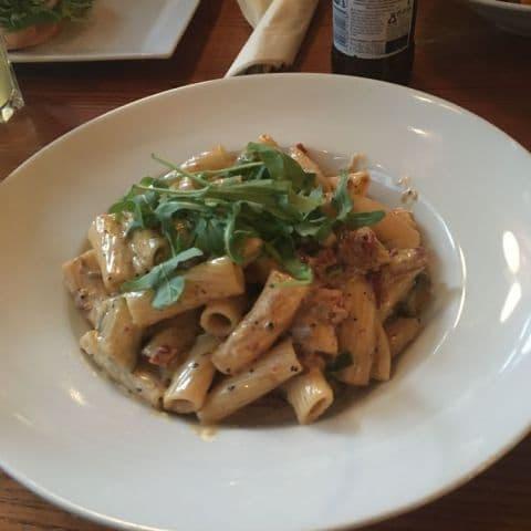 Vegetarisk pasta – Bild från Patricks Bar & Kök av Fredrik J.