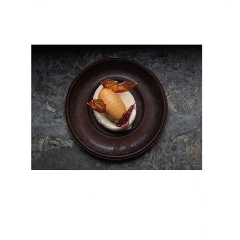 Blodapelsin med glass på stjärnanis – Bild från Prospero Restaurant av Hanna W.