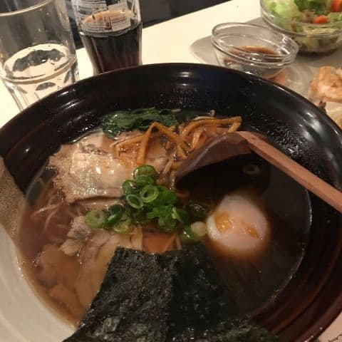 Shoyu Ramen med fläsk och bambuskott – Photo from Ramen Ki-Mama by Jenny Q.