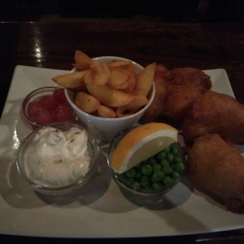 Fish and chips – Bild från Restaurang Black Brook av Kristina T.