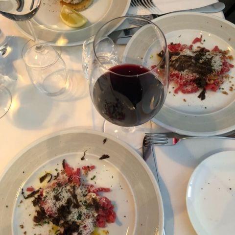 Lunch förrätt, råbiff – Bild från Restaurang Ilse av Adam L.