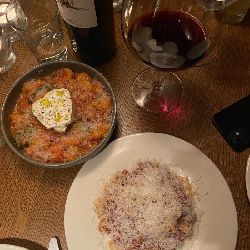 Tartar och pasta – Bild från Restaurang Ted av Adam L.