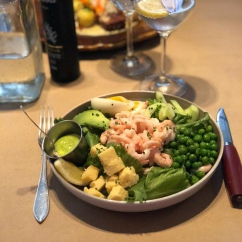 Roffes räksallad till lunch – Photo from Restaurang AG by Agnes L.