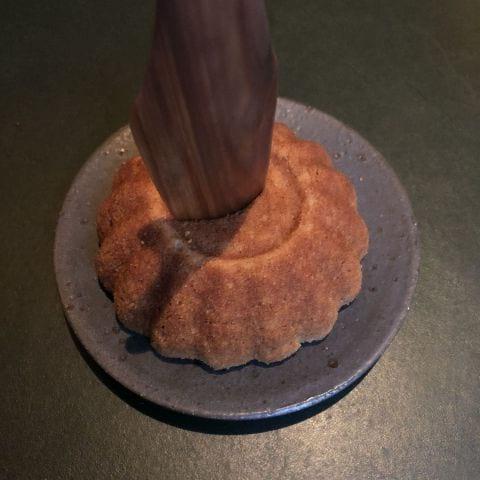 Sockerkaka med myskmadra – Bild från Restaurang Volt av Sophie E.