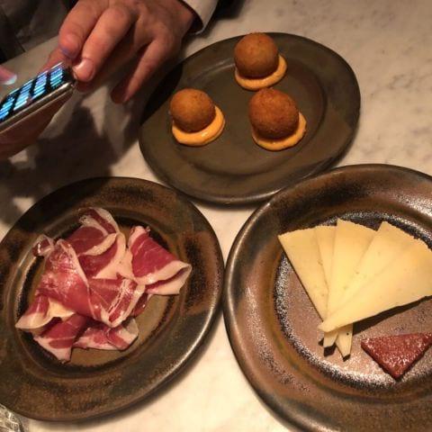 Manchego, kroketter med chilimajo och Iberico – Bild från Restaurang AG av Annelie V.