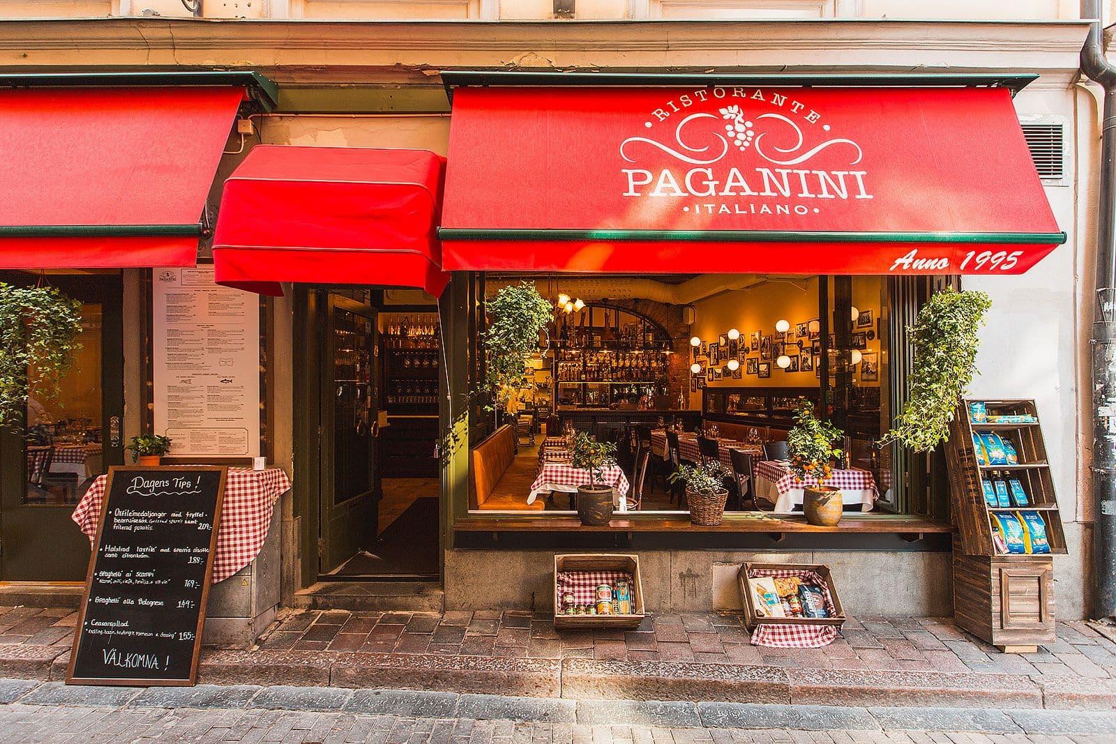 italiensk restaurang gamla stan