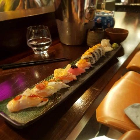Från vanliga menyn – Bild från Senshi Sushibar av Thessa H.