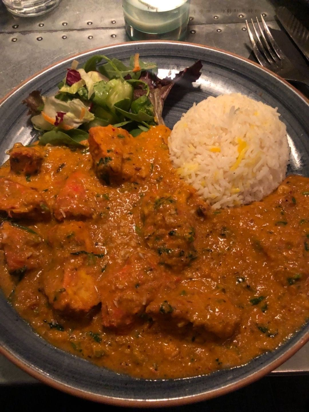 Chicken tikka masala – Photo from Shanti Gossip by Mythu L.