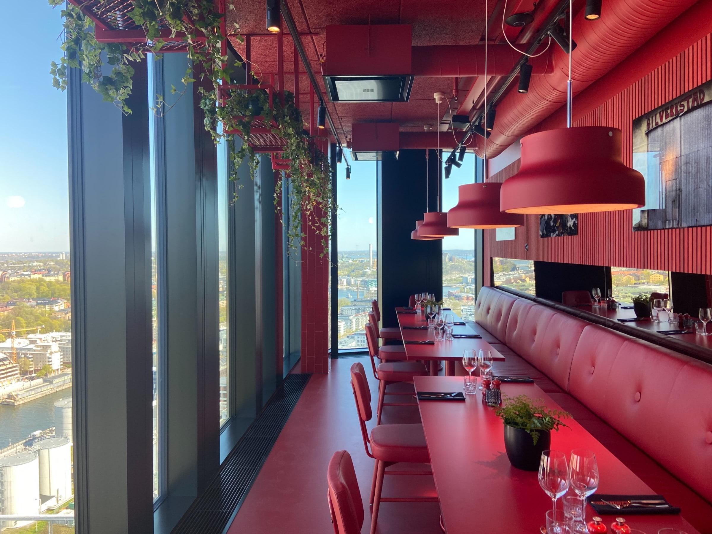 Red Room - Chambre séparée – Bild från Sjöstaden Skybar av Fredrik J.