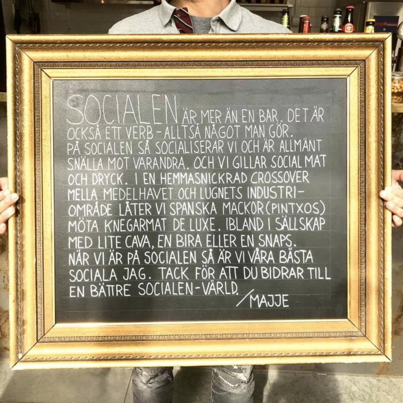 Socialen manifest – Bild från Socialen Bar av Joakim J.