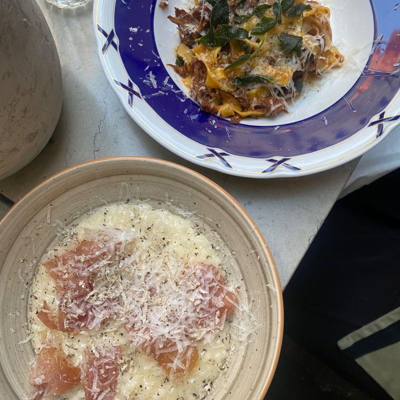 Ragu och tryffelrisotto – Photo from Styrelsen Bar & Bistro by Adam L.