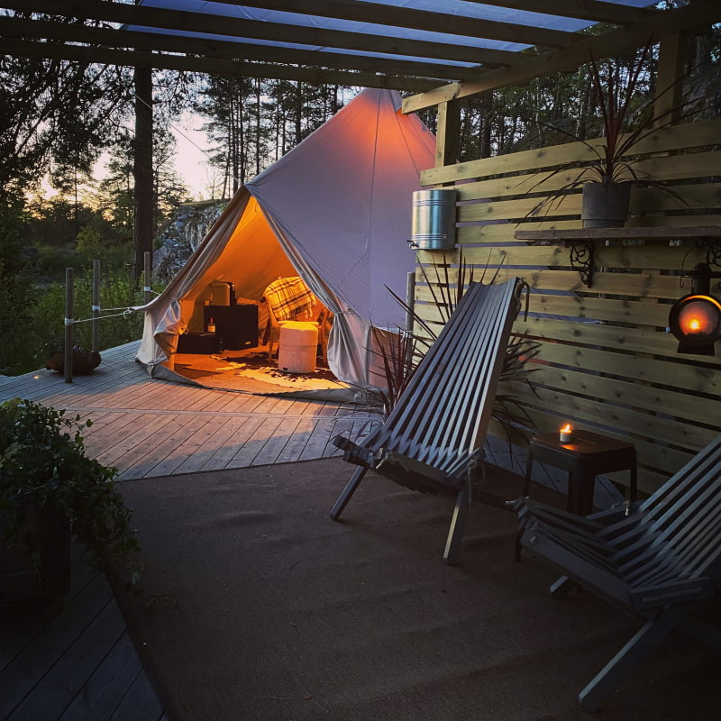 Glamping jun-aug – Photo from Sund Nergården by Niklas A.