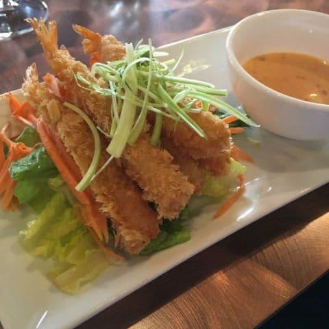 Friterade räkor med chili mayo – Bild från Thai House Wok Nybrogatan av Joakim H.