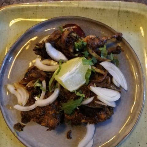 Kaadai (Quail) Fry – Bild från The South Indian av Southindian R.