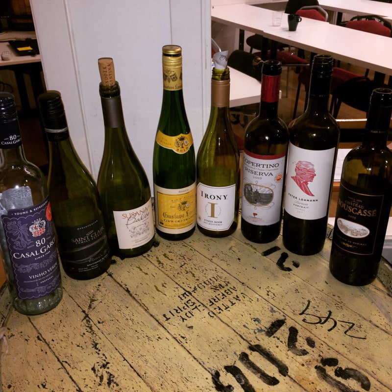 Viner från en av de första skoldagarna – Bild från Vinkällan Dryckesutbildningar av Katrine L.