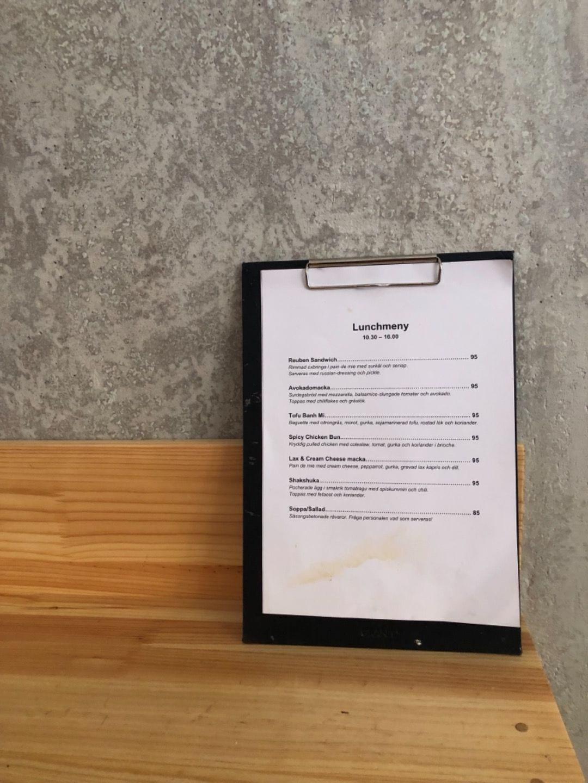 Lunchmenyn – Bild från Viktors Kaffe av Agnes L.
