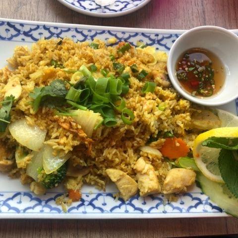 Fried rice med kyckling. Älskar den – Bild från Waan Thai av Annelie V.