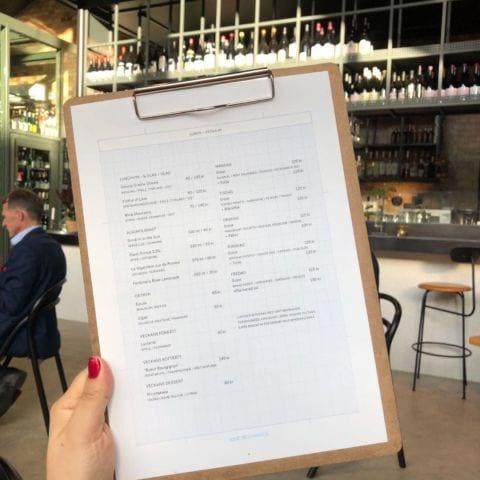 Lunchmeny exempel höst 2018 – Bild från Wine Mechanics av Agnes L.