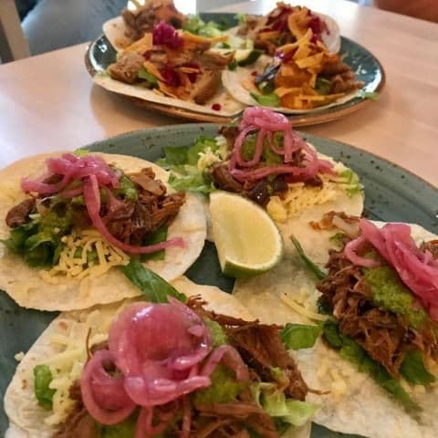 Pulled pork tacos – Photo from Yuc Mexican by Robin N.